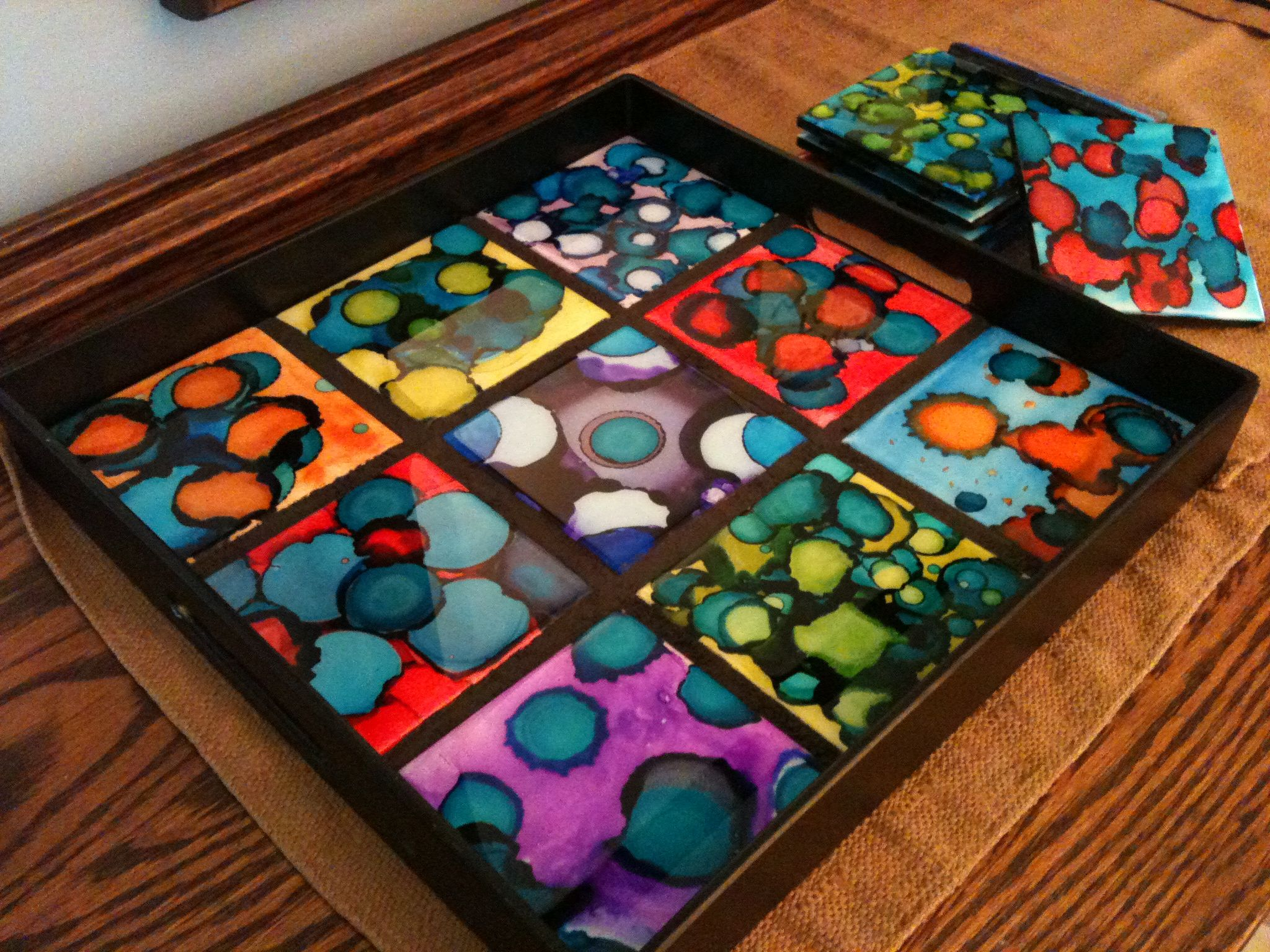6th grade 2013 alcohol inks on ceramic tile resin coated 6th grade 2013 alcohol inks on ceramic tile resin coated serving tray and coaster dailygadgetfo Images