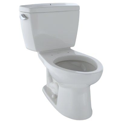 Toto Drake Two Piece Elongated 1 6 Gpf Toilet With Cefiontect And Insulated Tank With Bolt Down Lid Seat Not Included Toilet Flush Toilet Bathroom Toilets