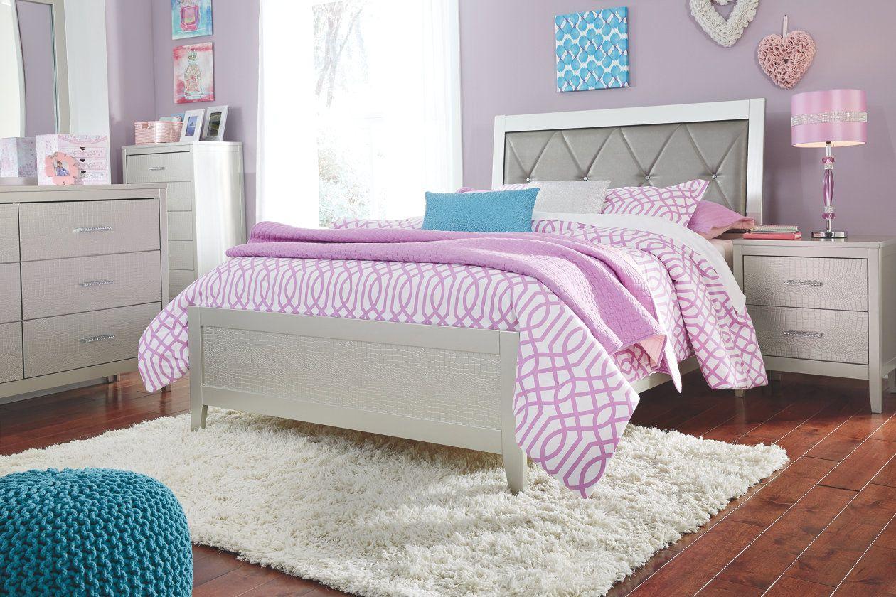 Olivet Queen Panel Bed Ashley Furniture HomeStore Dorm
