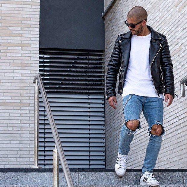 look adidas superstar homme