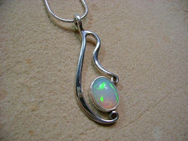 Opal in Sterling Silver Pendant