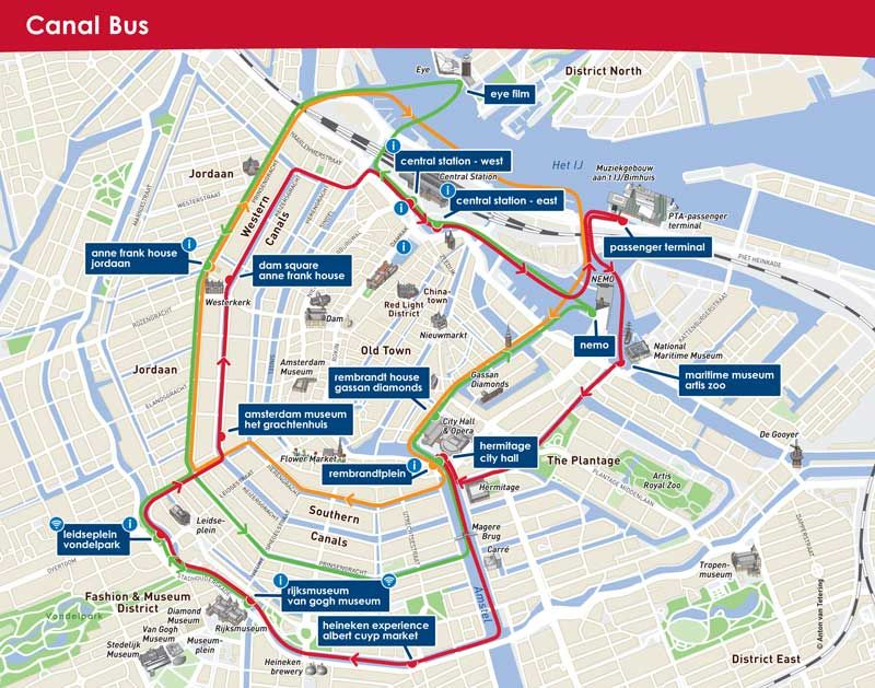 Going Sightseeing In Amsterdam Take The Canal Bus Amsterdam