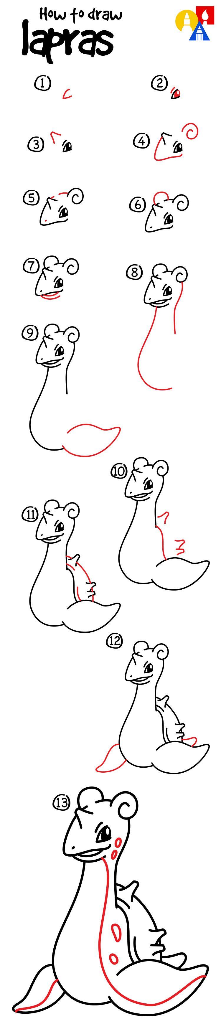 How To Draw Lapras - Art For Kids Hub -