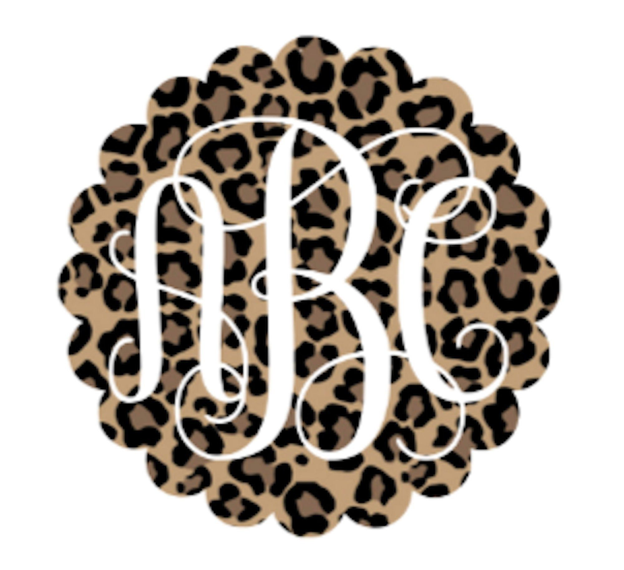 Leopard Monogram Leopard Print Cup Decal Tumbler Decal Car Decal Decal For Women Wonderfully Made Creations Car Monogram Monogram Car Stickers Monogram Vinyl Decal [ 1828 x 2000 Pixel ]