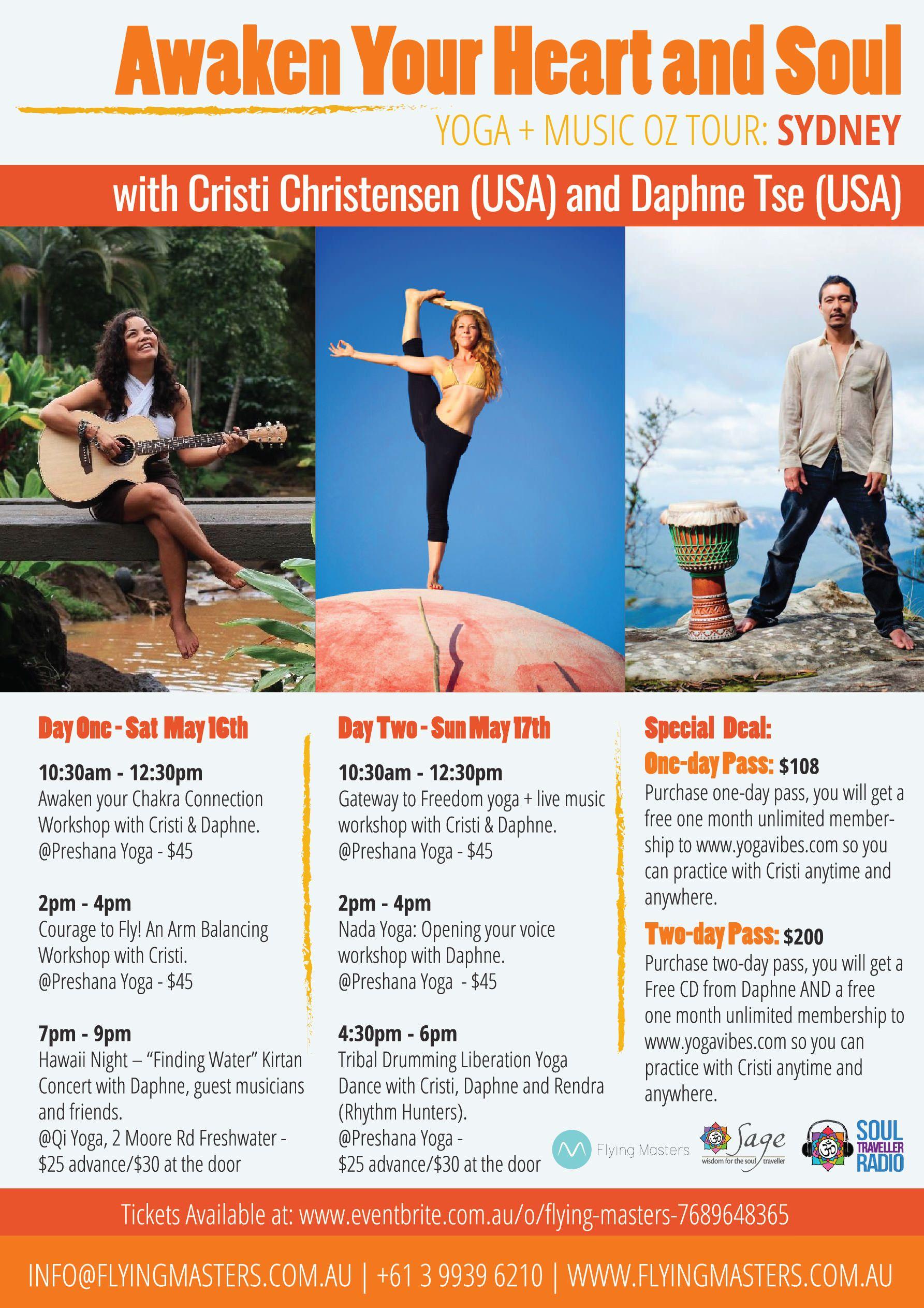 Poster design workshop - Cristi Christensen And Daphne Tse Yoga Workshop Poster Design By Hey Yogi