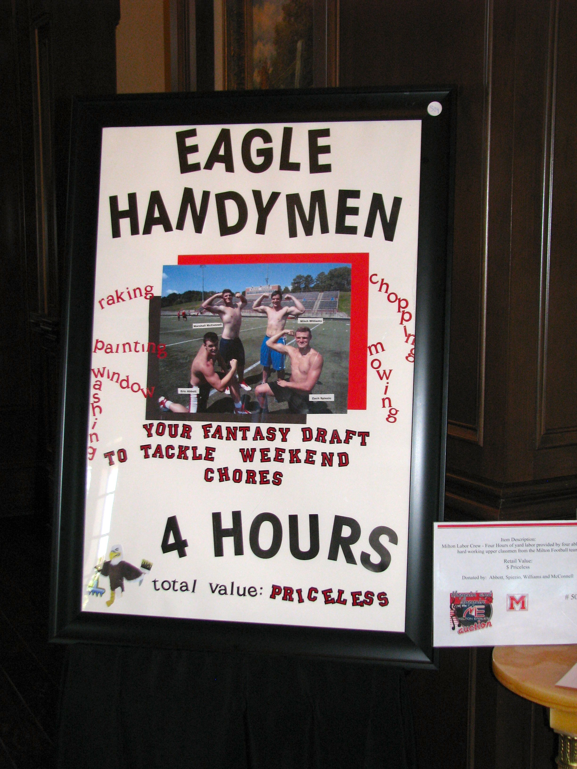 a very cool #fundraising auction item! -> milton eagles auction item