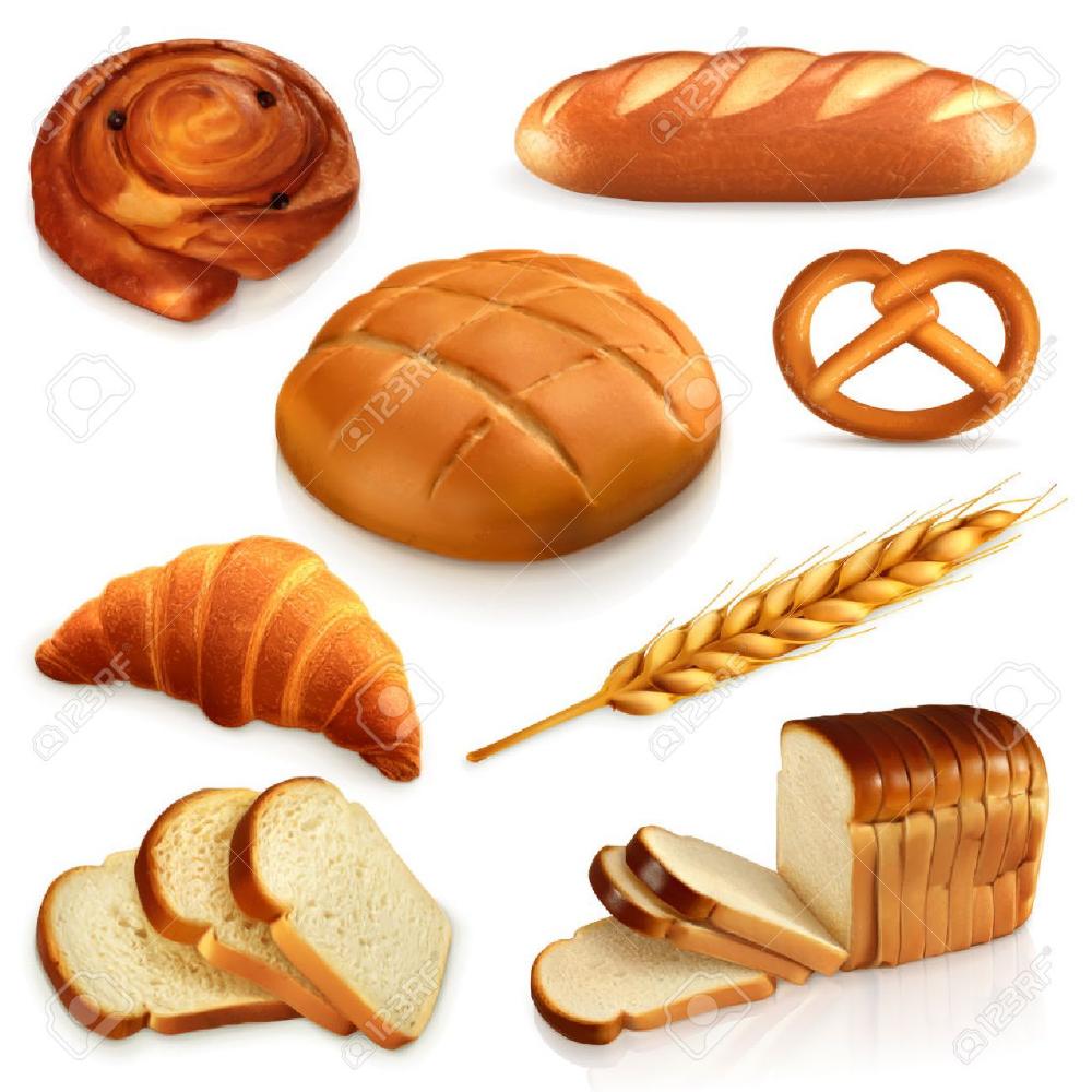 Conjunto De Pan I Iconos Vectoriales Aislado En Fondo Blanco Piramide De Los Alimentos Alimentos Dibujos Recetas De Comida