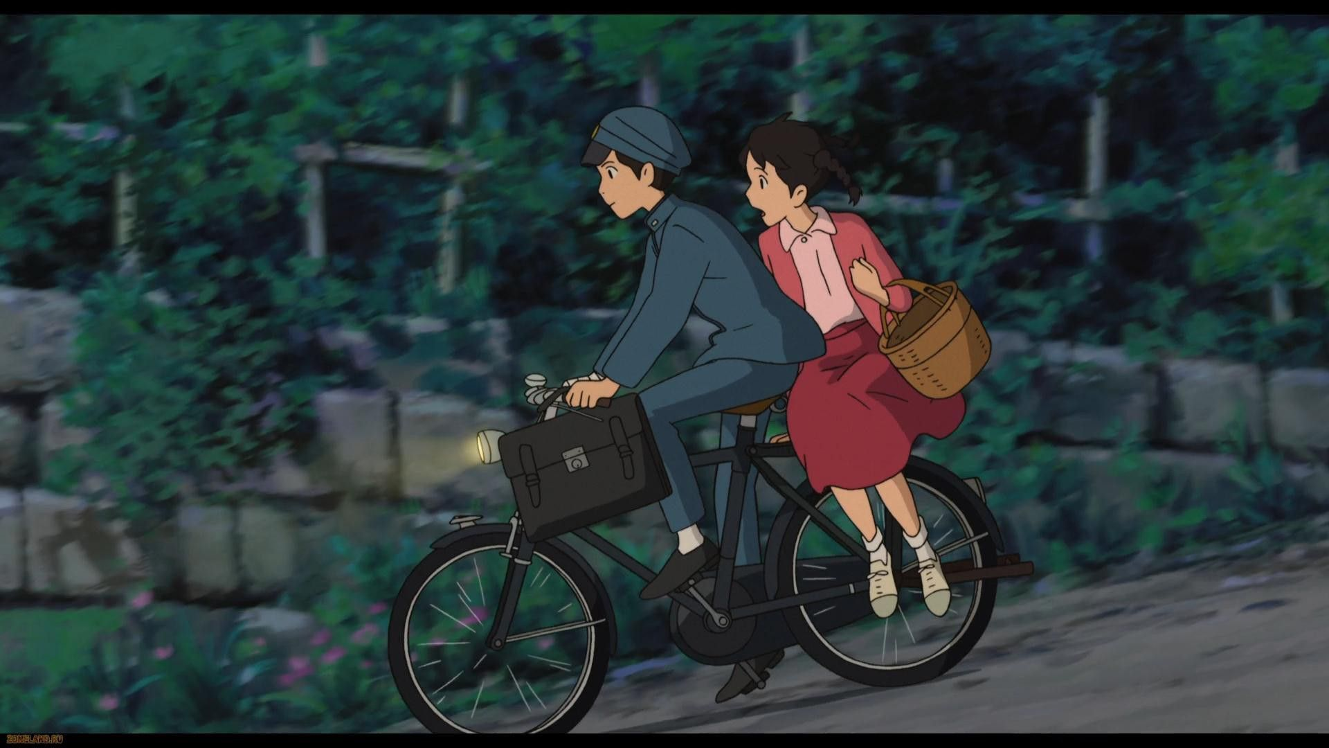 From Up On Poppy Hill, boy and girl on a bicycle