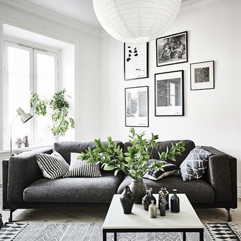 This home tour shows you how to style a home with a low budget check scandinavian interior