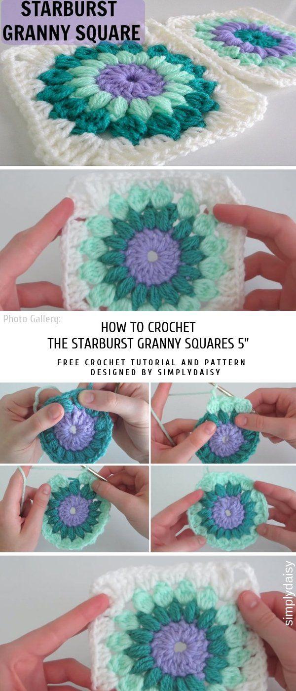 How to Crochet the Starburst Granny Squares 5 #grannysquares