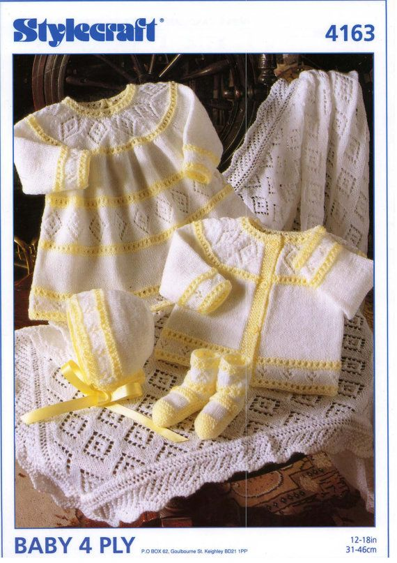 Stylecraft 4163 baby knitting pattern door knittingPatterns12, £2.00
