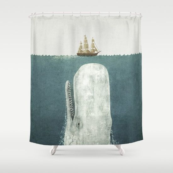 The+White+Whale+Shower+Curtain+by+Terry+Fan+-+$68.00