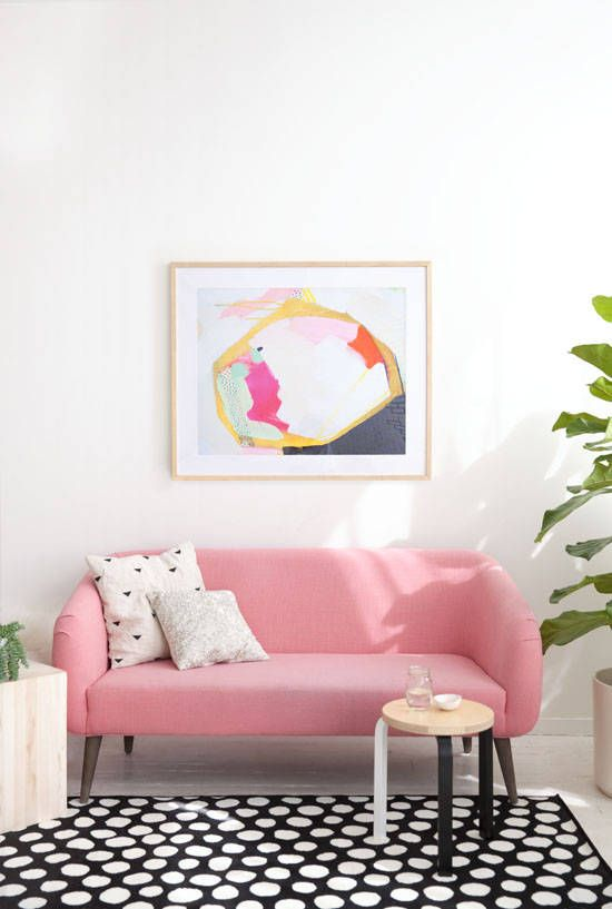 Pink sofa, polka dot rug from ikea | Home Makeover Ideas | Pinterest ...