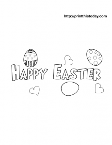Happy Easter Banner Coloring Page Easter Coloring Pages Easter Printables Free Coloring Pages For Kids