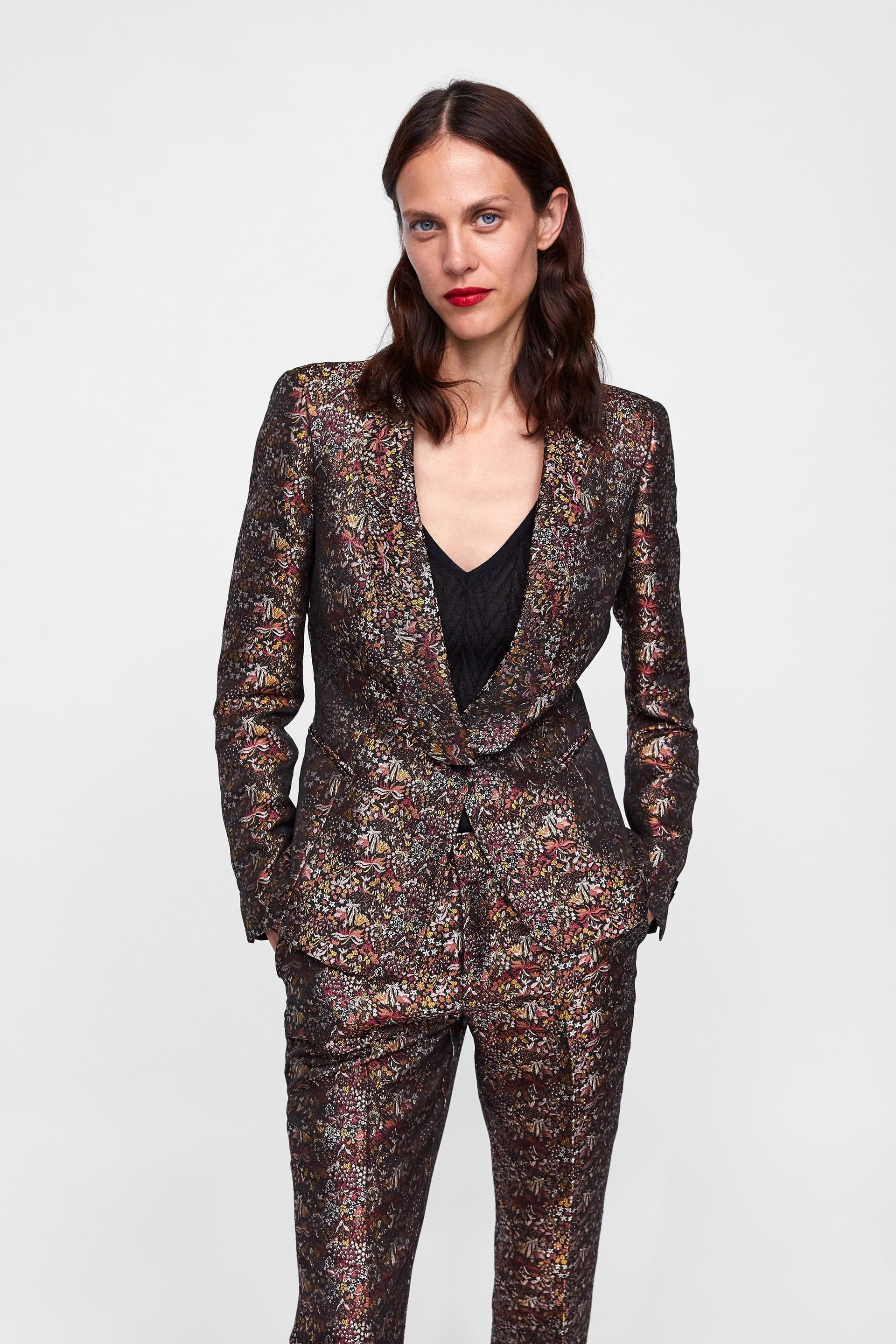 46b4f764 Image 2 of FLORAL JACQUARD BLAZER from Zara | My Style in 2019 ...