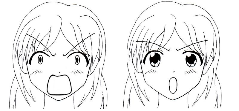 dessin manga visage triste