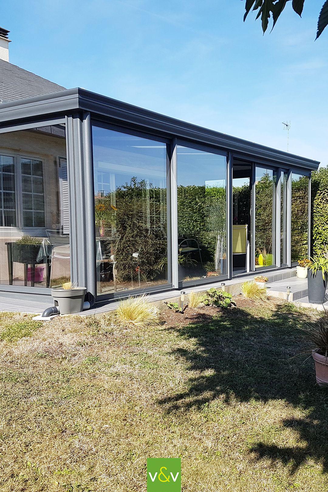 Une véranda aluminium à Angers (49) en 2020 | Veranda aluminium, Veranda moderne, Veranda