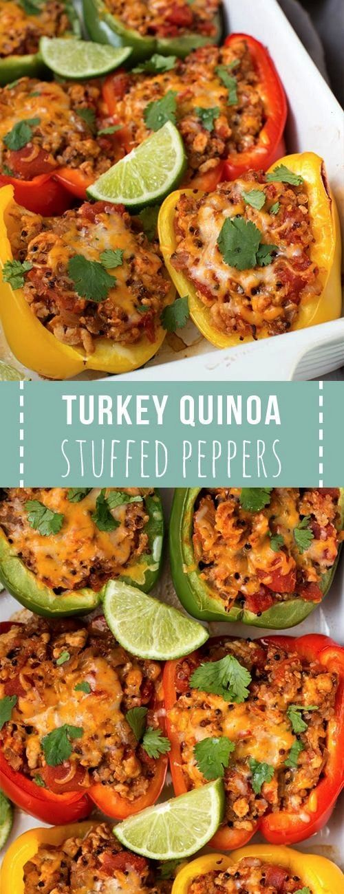 Turkey Stuffed Peppers with QuinoaGround Turkey Stuffed Peppers with Quinoa  Made with paprika roas