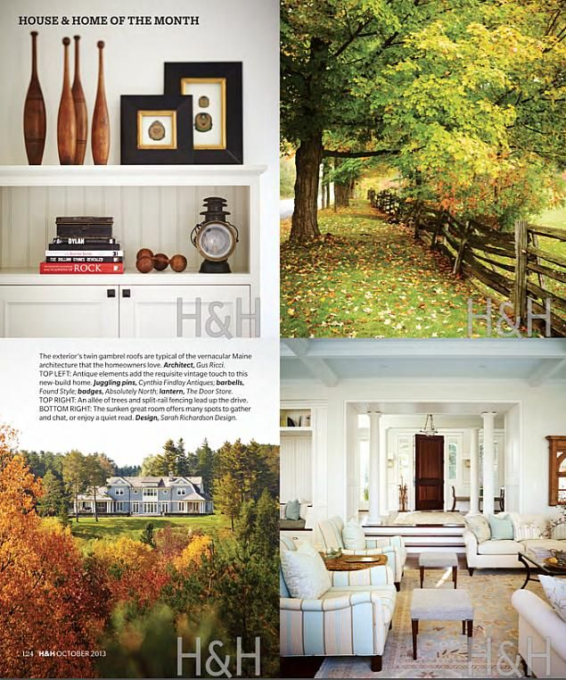 Sarah Featured In The October 2013 Issue Of House Home Beautiful