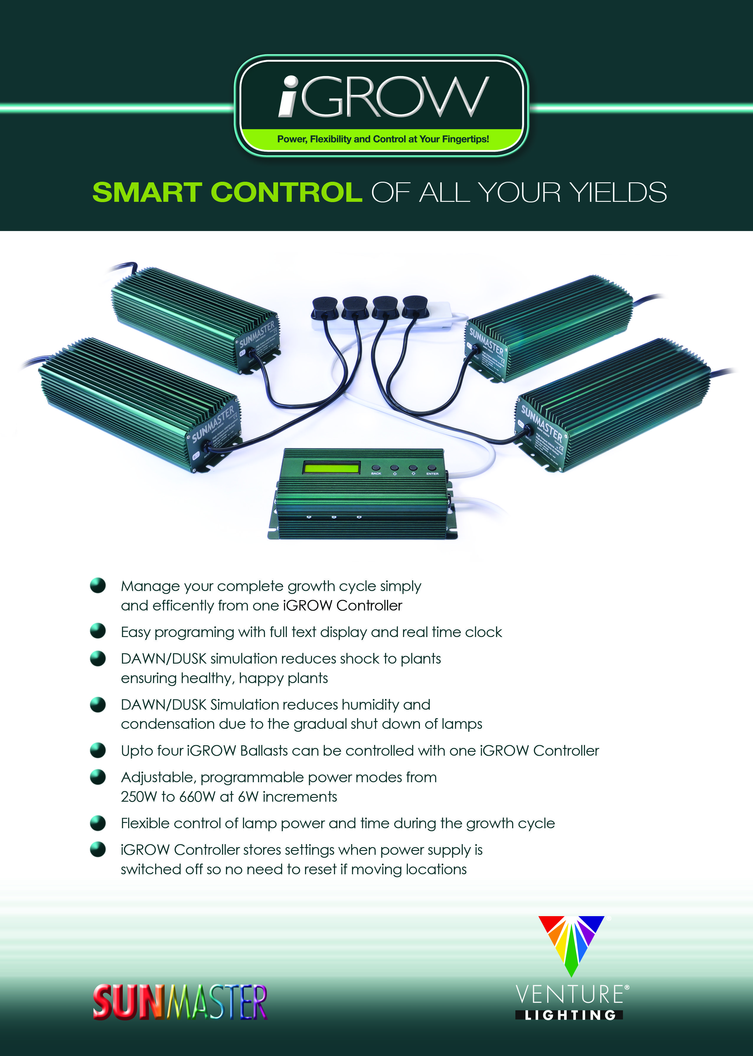 The Sunmaster IGROW Controller System From Sunmaster Europe, Part Of The  Venture Lighting Group.