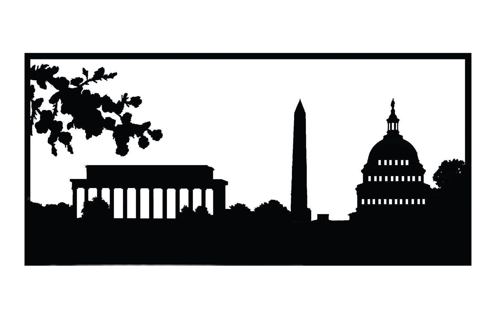 Dc Skyline Silhouette This Could Be A Cool Tattoo Although Id Lincoln Town Car Want The National Cathedral Included