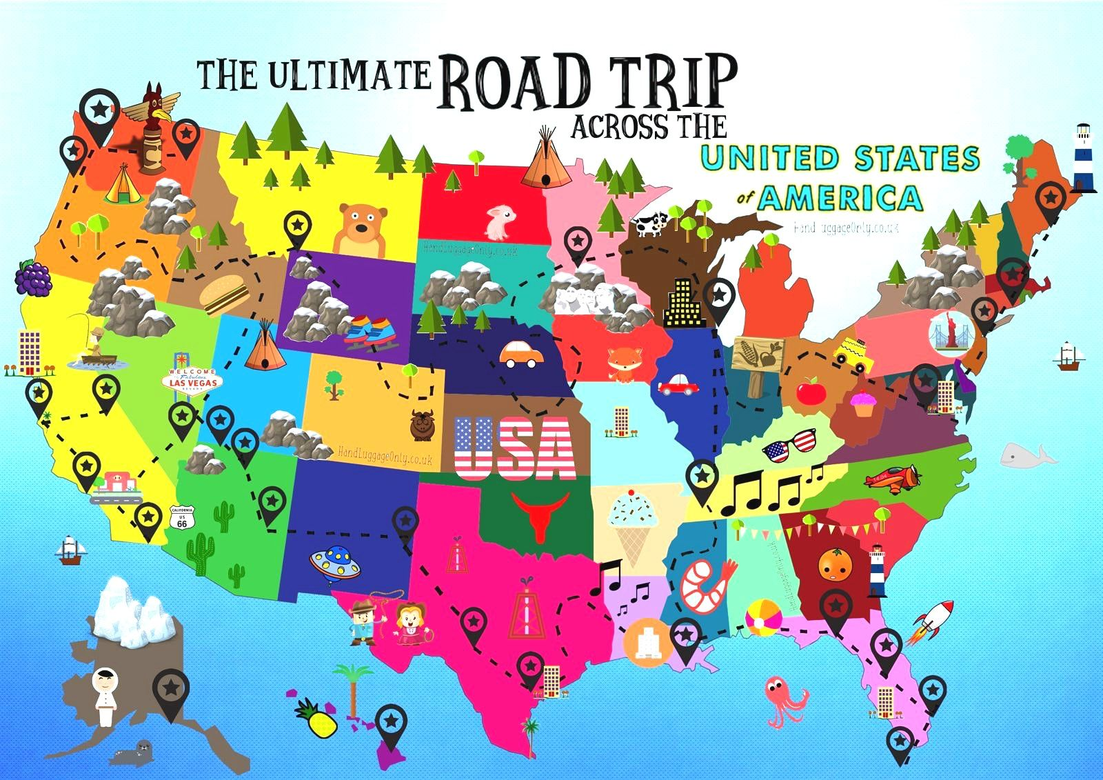 Image Result For Best Us Road Trip Routes Art Mail Road Trip Map - Best-us-road-map