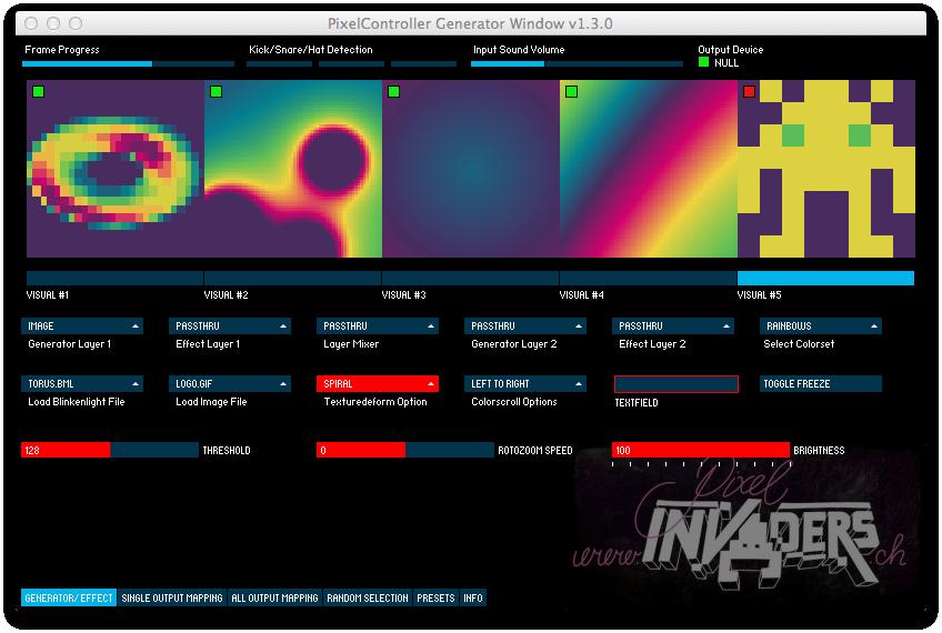 PixelController « PIXELinvaders led matrix control Led