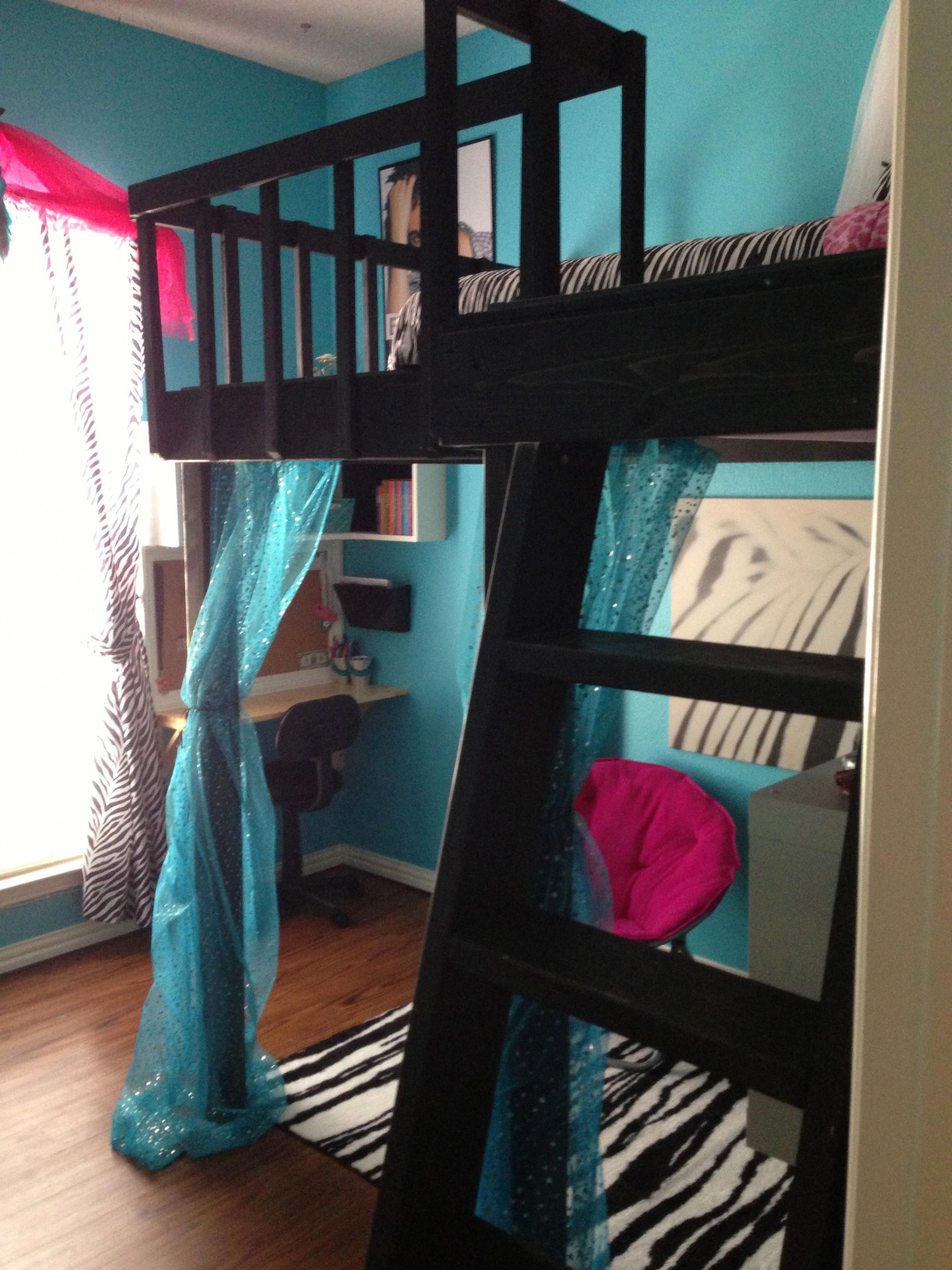 Loft bedroom with bathroom  DIY Loft  bedroom remodel diyteengirlbedroomsloftbeds  Teen Girl