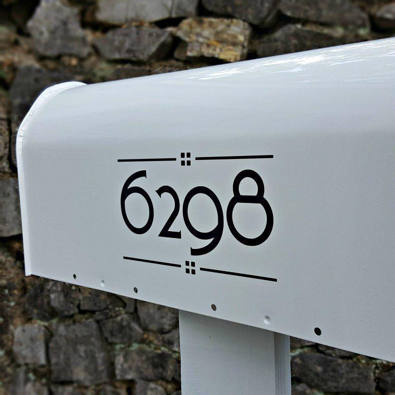 Craftsman Mailbox Decals In Black Craftsman Mailboxes Mailbox Numbers Mailbox Decals
