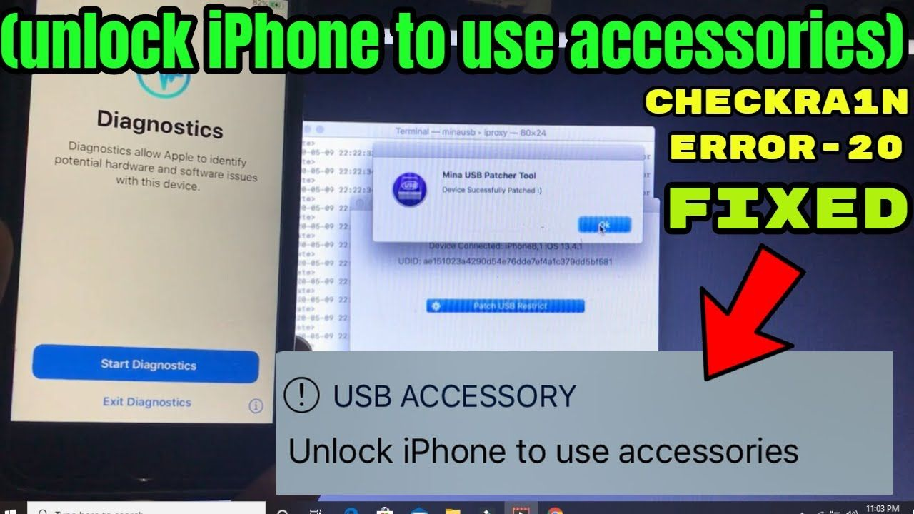 How to fix checkra1n error20 unlock iphone to use