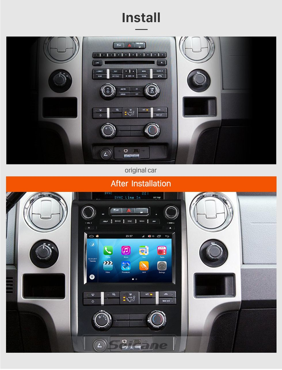 Seicane 2009 2012 Ford F150 Android 8 0 Touch Screen Dvd Player