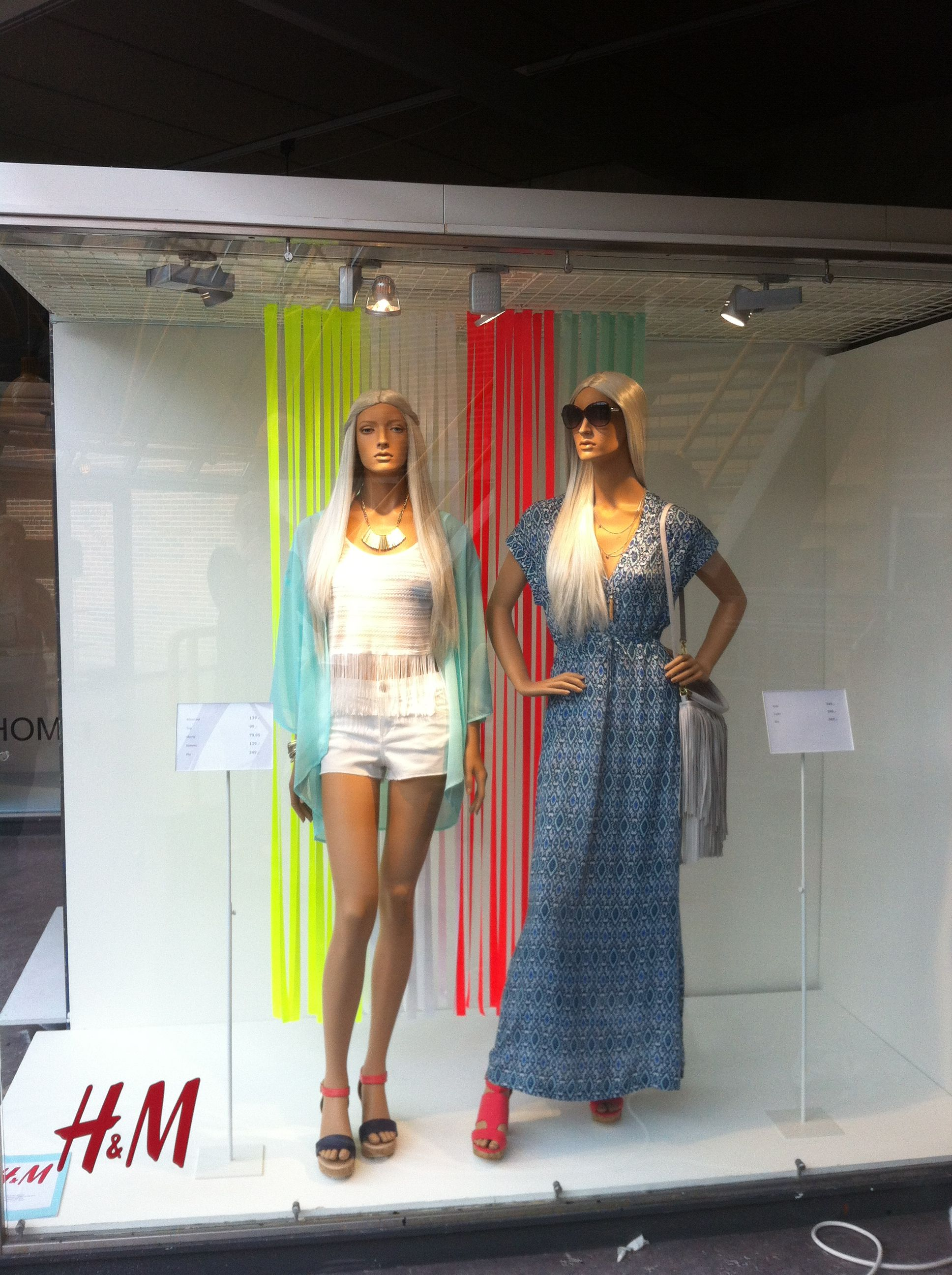 Window made by visual merchandiser Trainee at School Inspired by H&M