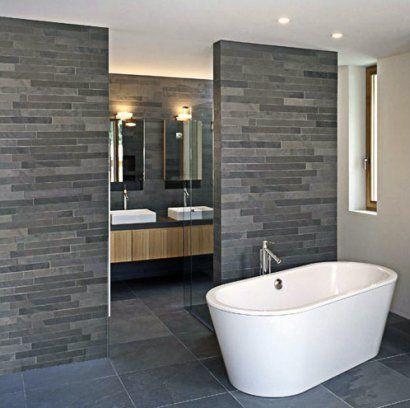 Badkamerinspiratie badkamertegels antraciet en moza ekwand bij badkamer inspiratie - Badkamer turkoois ...
