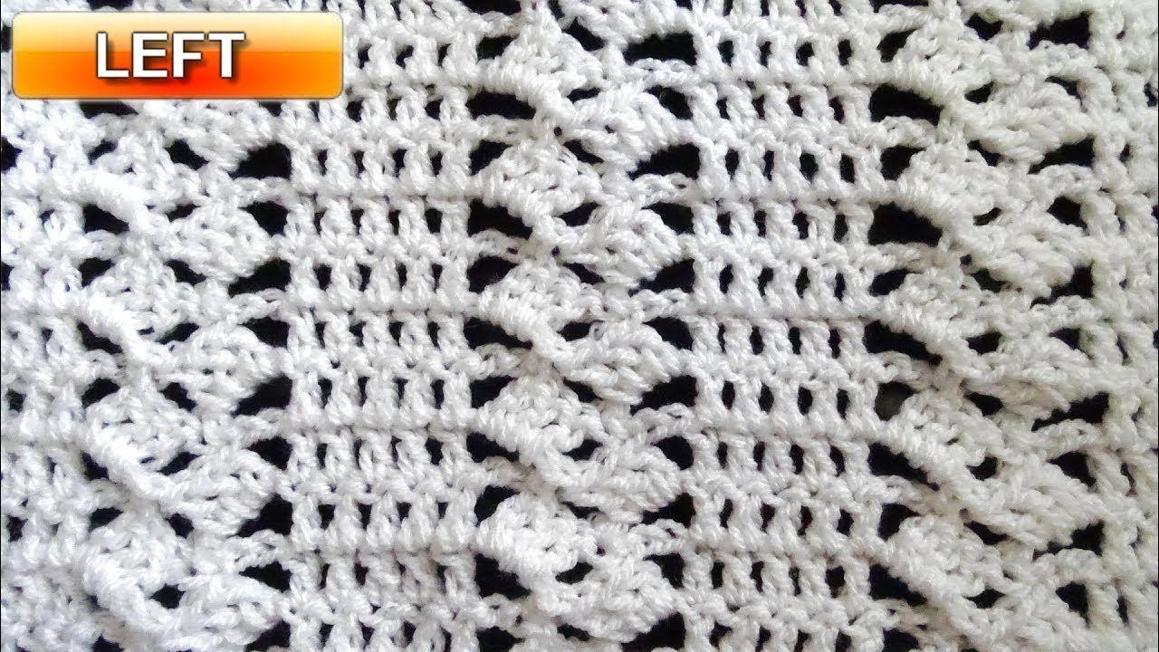 Fancy Blocks Crochet Stitch - Left Handed Crochet Tutorial - YouTube ...