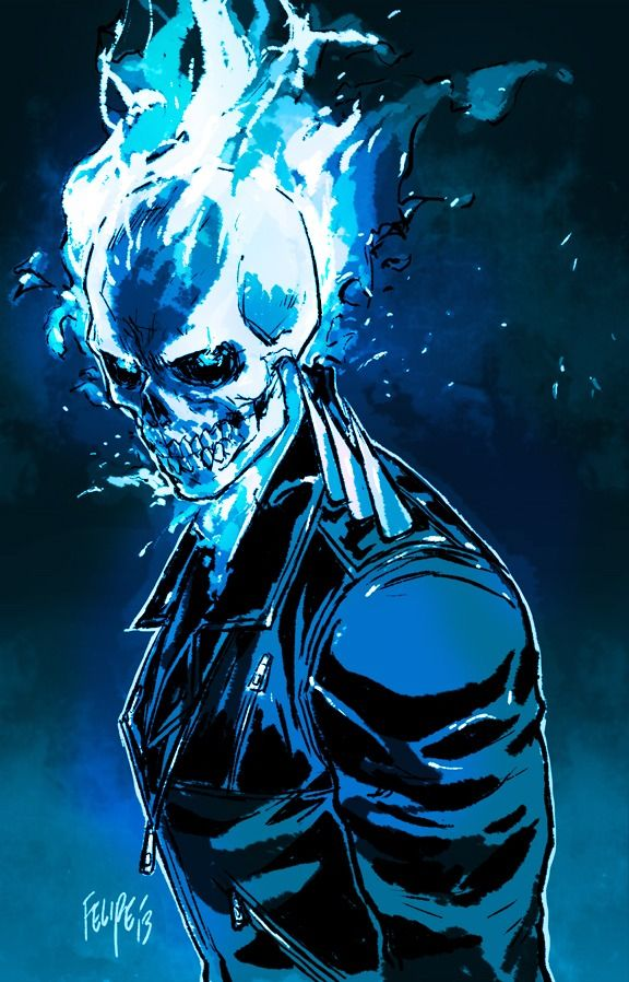Ghost rider danny ketch johnny blaze spirit of - Blue ghost rider ...