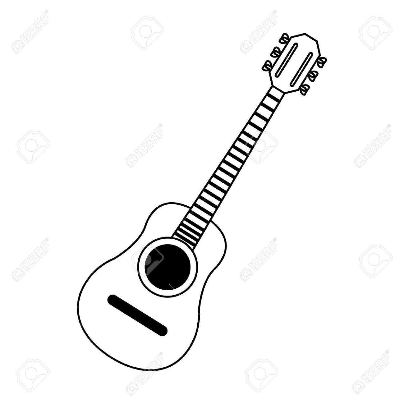 Acoustic Guitar Music Instrument Vector Illustration Graphic Design Sponsored Music Acoustic Guitar Music Social Media Design Graphics Music Instruments