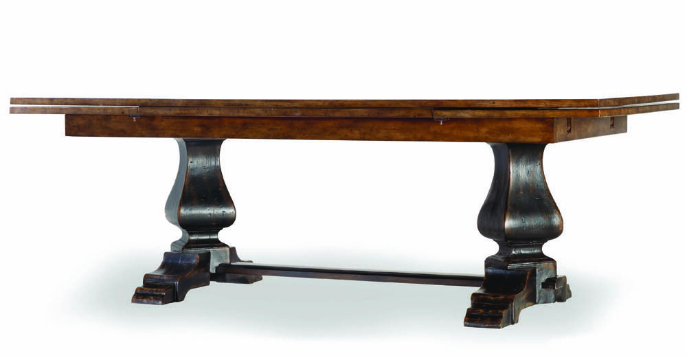 Sanctuary Two Tone Rectangular Trestle Refectory Table By
