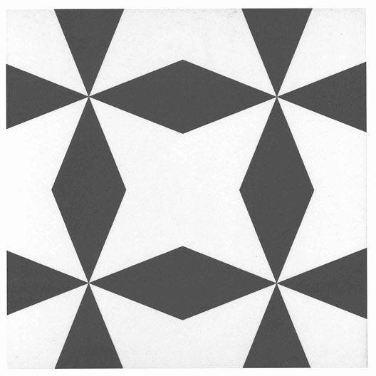 carrelage sol et mur noir blanc effet ciment d ment x cm salle de bain tiles tile. Black Bedroom Furniture Sets. Home Design Ideas