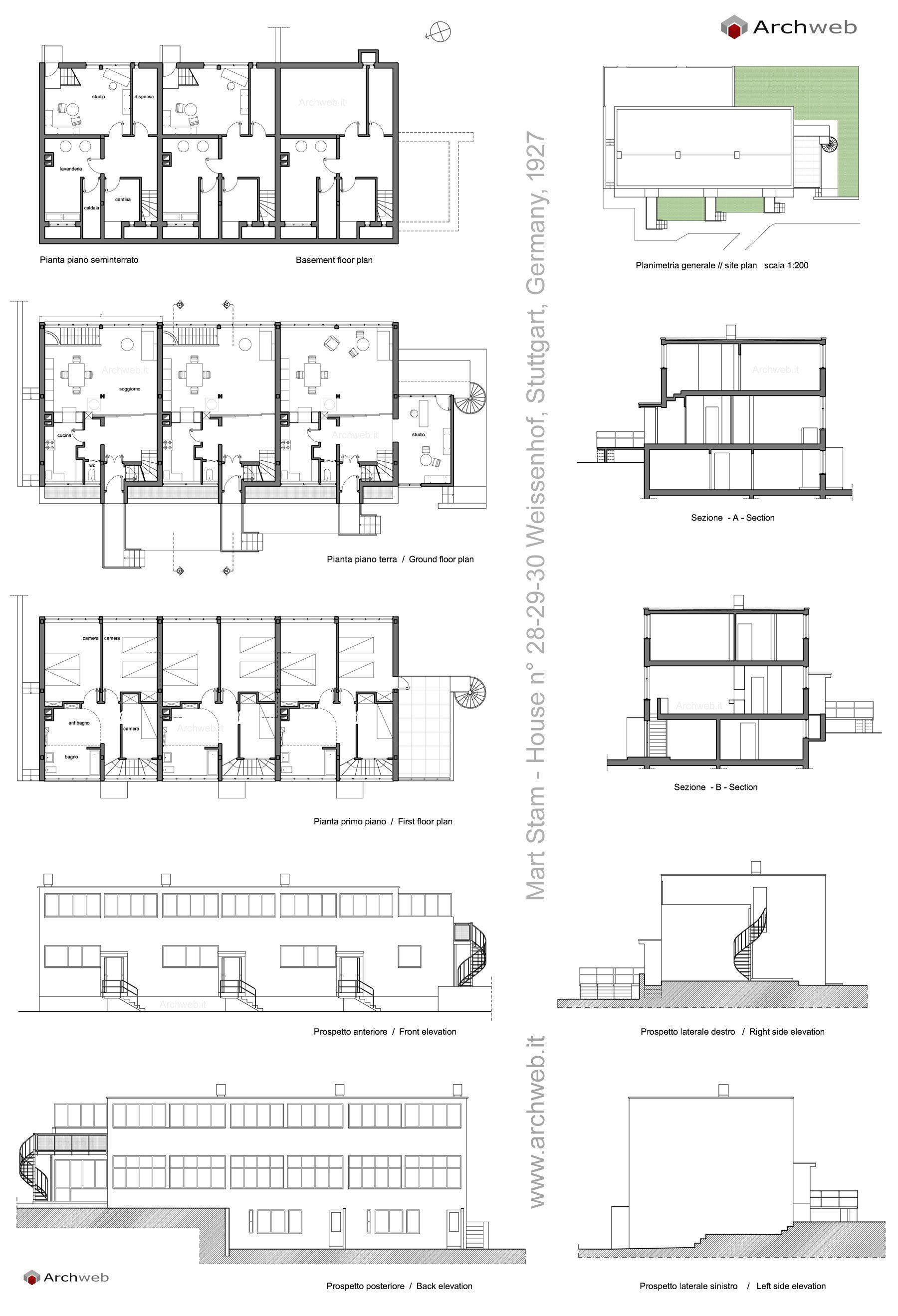 Mart Stam Buildings In Weissenhof 28 29 30