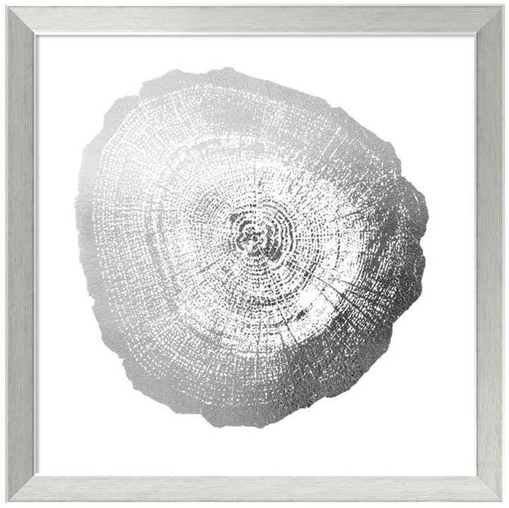 Amanti art tree ring iv metallic print framed wall art metal tree artwork pinterest metallic prints tree rings and metal tree