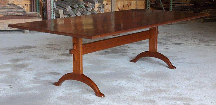 SHAKER TRESTLE DINING TABLE 48W. X 97L. WALNUT (T-197) | Angellic ...