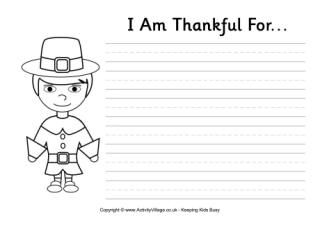 I Am Thankful For worksheet, Thanksgiving worksheet ...