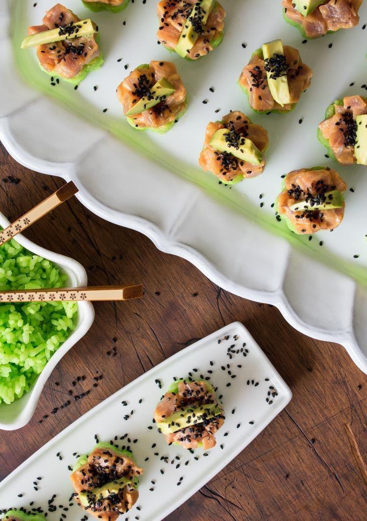 Atun Porn torrecitas de sushi de atún spicy