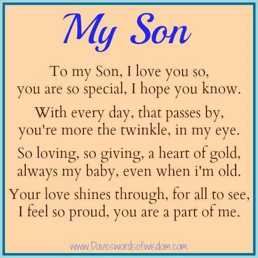 I Love U Hunter Blake My Son Quotes I Love My Son I Love My Daughter