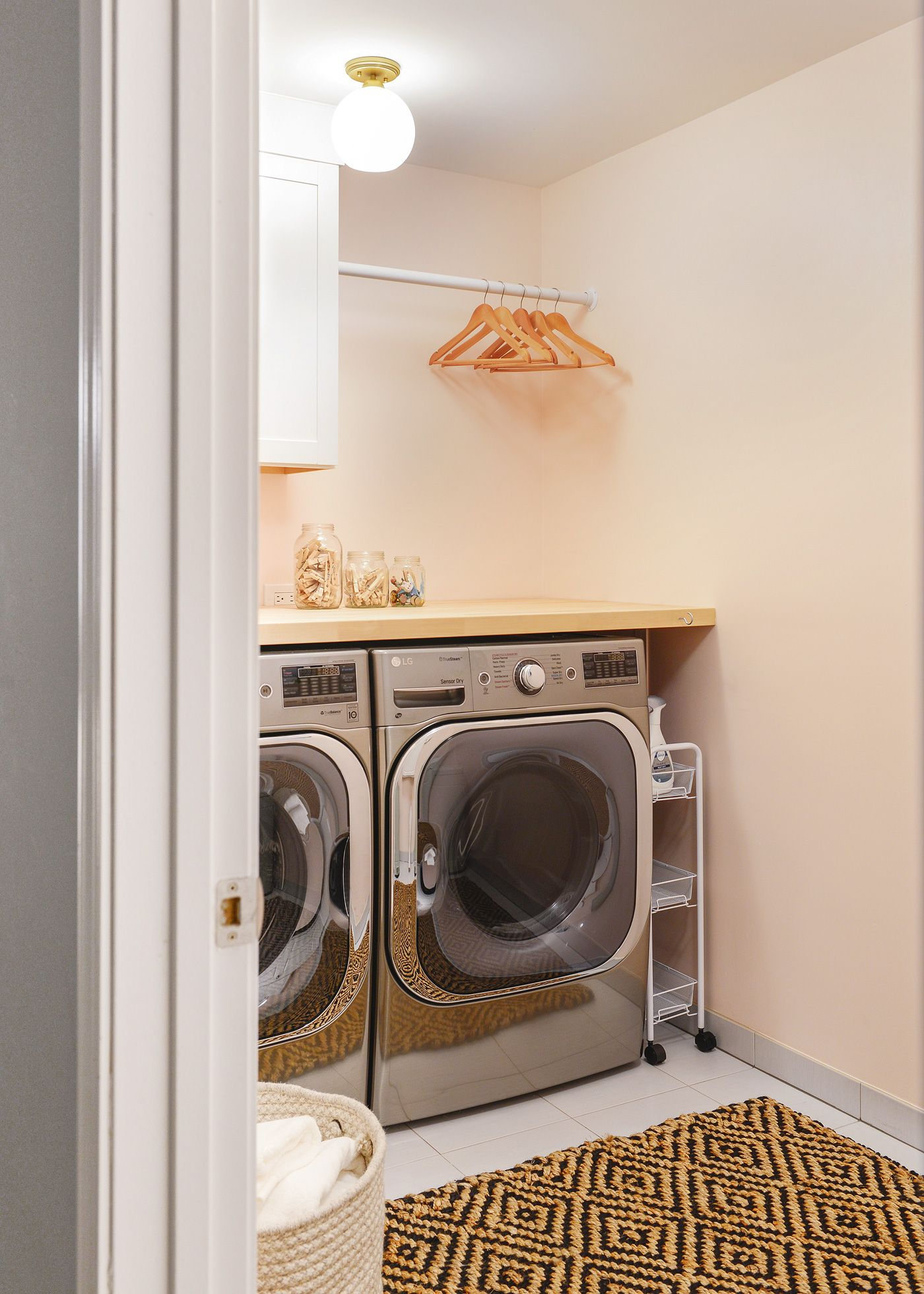 A 2-Day Pretty In Peach Laundry Room Makeover! | Laundry ...