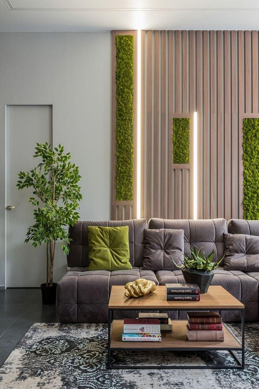 16 Beautiful Natural Green Wall Construction Design Ideas Living Room Wall Designs Interior Wall Design Living Room Partition Design Living room wall design