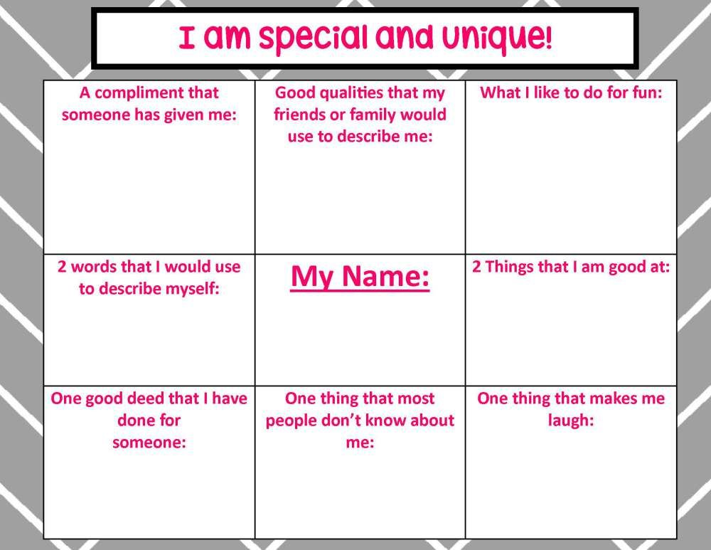 Selfesteemactivity Page 1 Counseling Small Groups Self