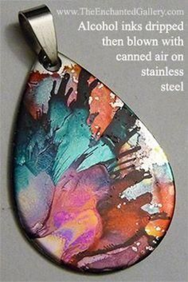 5 SURFACES THAT MAKE A GREAT CANVAS FOR ALCOHOL INKS #metalclayjewelry #metal #clay #jewelry #alcohol #inks