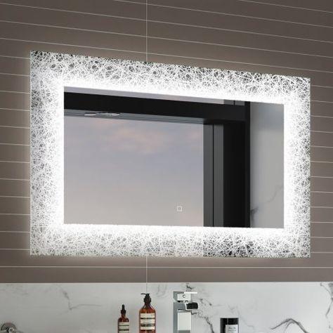 600x900mm Galactic Designer Illuminated Led Mirror Switch Control Led Mirror Bathroom Bathroom Mirror Lights Light Up Bathroom Mirror