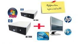 N2 HP DC 7800 CORE 2 DUO 2 GB 160 HD 2.40Mhz e6500 dvd/rw con windows 7pro + N1 Monitor hp da 19 pollici Granazia 180 giorni